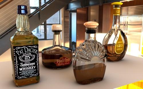 bouteilles rendu