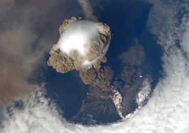 ufo volcano japan