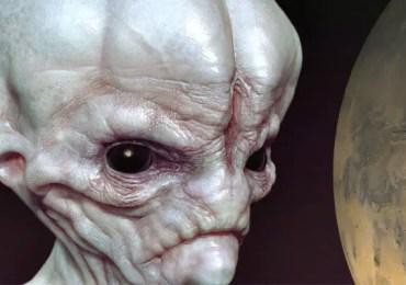 ugly alien near mars