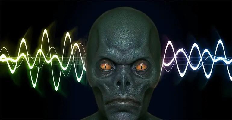 reptilian alien sound wave