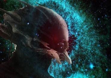 alien robot in space