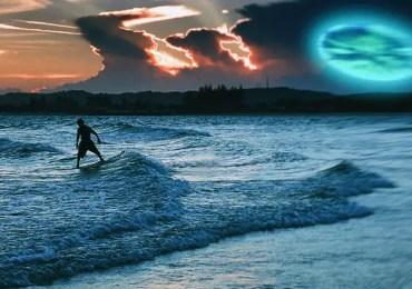 surfer films shapeshifting ufo
