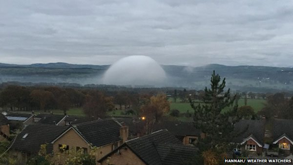 spherical ufo or cloud