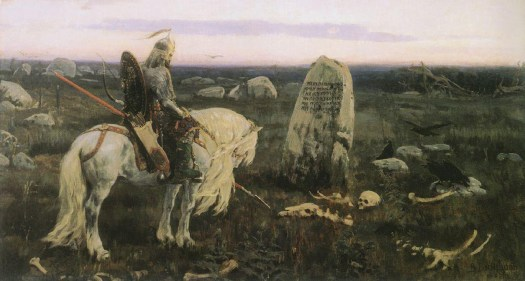 A Bogatyr mourns their ancestors in Free From the Yoke