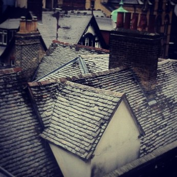 snow rooftops
