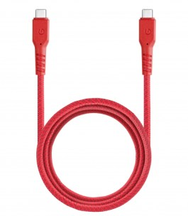 Fibratough	3.1 Gen1,USB-C to USB-C Charge&Sync Cable 5GBPS 5A 1.5M – Red