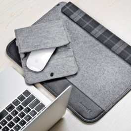 Inateck Ultra Slim 11-11.6 Inch MacBook Air Sleeve Case Cover Protective Bag for Apple MacBook Air 11.6″, Gray