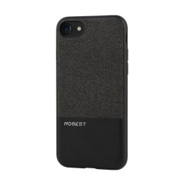 Mobest Design Atman Series Canvas/PU Leather Splicing for iP7 – Black