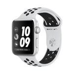 Series 3 GPS, 38mm Nike Silver Aluminum | Sport Band Pure Platinum / Black