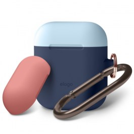 AirPods Duo Hang Case (Body-Jean Indigo Top-Pastel Blue, Italian Rose)