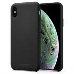Spigen iPhone XS/X 5.8″ Case Silicone Fit – Black 063CS25651