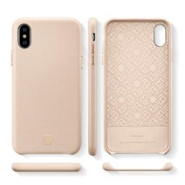 Spigen iPhone XS/X 5.8″ Case La Manon câlin – Pale Pink (Leather Case) 063CS25323