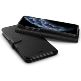 Spigen iPhone 11 Pro 5.8″ WalletS Saffiano – Black