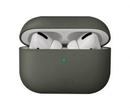 Uniq Lino Hybrid Liquid Silicon AirPods Pro Case – Moss Grey