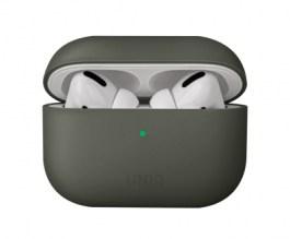 Uniq Lino Hybrid Liquid Silicon AirPods Pro Case – Moss Grey