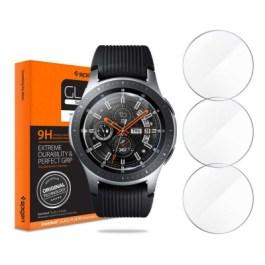 """Spigen Galaxy Watch (46mm) Glass """"Glas.tR SLIM"""" (3Pack/Ver.2)"""