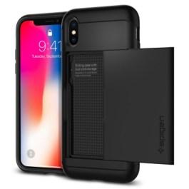 Spigen iPhone X Slim Armor CS – Black 057CS22155