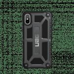 iPhone X (5.8 Screen) Monarch Case- Graphite/Black/Silver Logo- Retail Package