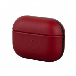 Uniq Terra Geniune Leather AirPods Pro Snap Case – Mahogany ( Red )