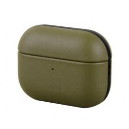 Uniq Terra Geniune Leather AirPods Pro Snap Case – Pine ( Olive )