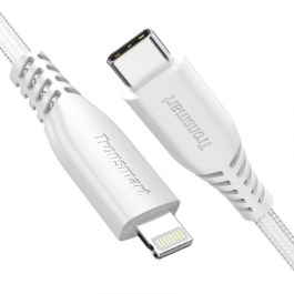 Tronsmart Nylon Double Braided TID USB-C Connector 4ft/1.2m – White