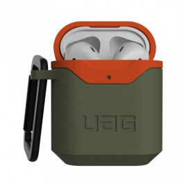 UAG AirPods 1/2 Hard Case V2 – Olive Drab/Orange