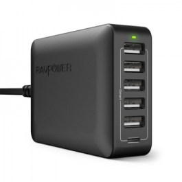 RAVPower RP-PC033 60W 6-Port Desk Charger – Black