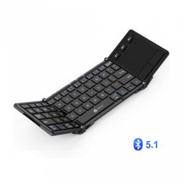 iClever BK08 Portable Tri-folding Bluetooth Keyboard with TouchPad – Grey