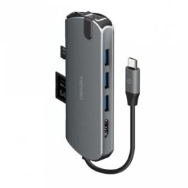 Energea Aluhub HD Pro 8in1 Superspeed Aluminium 3.1 USB-C HUB – Gunmetal
