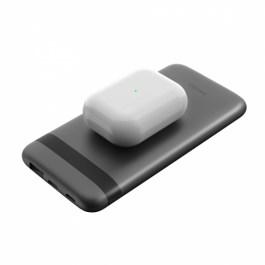 ENERGEA ENERPAC OMNI 10000MAH LI-POLYMER USB-C PD FAST WIRELESS + LIGHTNING INUT POWER BANK – DARK GUNMETAL