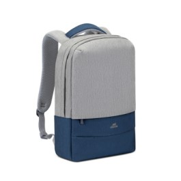 RIVACASE 7562 Grey/Dark Blue Anti-theft Laptop Backpack 15.6""