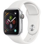 Series 4 40mm Silver Aluminum| White Sport Band