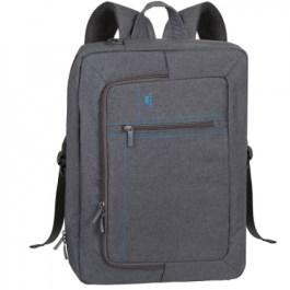 ALPENDORF RIVACASE 7590 Convertible Laptop Bag/Backpack 16″ Grey