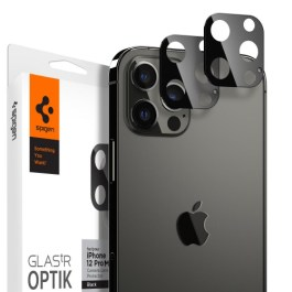 Spigen iPhone 12 Pro Max 6.7 Optik Lens Protector – Black