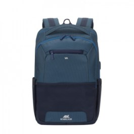 RIVACASE 7767 Steel Blue/Aquamarine Laptop backpack 15.6″