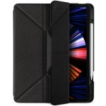 JTLEGEND AMOS iPad Pro 2021 – 12.9″ Amos QCAC Folio Case with Pencil Holder – Dark Grey