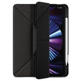 JTLEGEND AMOS iPad Pro 2021 – 11″ Amos QCAC Folio case with Pencil Holder – Dark Grey