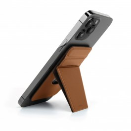 UNIQ LYFT MAGNETIC SNAP-ON STAND AND CARD HOLDER – Brown