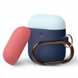 A2 Duo Hang Case [Body-Jean Indigo Top-Pastel Blue, Italian Rose]