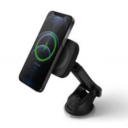Uniq Magnea Magnetic Wireless Charger + Car Dash & Vent Mount Charcoal