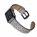 Vogue Leather Band – Grey with Black Dot 44mm/42mm