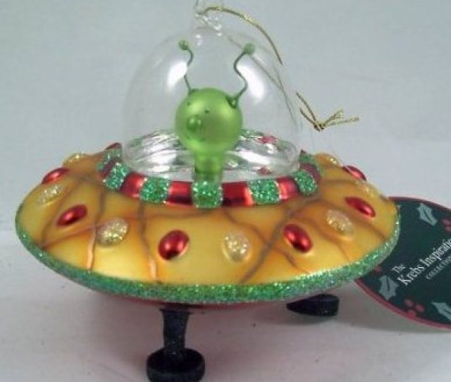 Unique Christmas Gift Idea Alien Flying Saucer Christmas Ornament