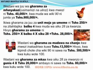 chicken management swahili 013 300x225 - Ufugaji wa kuku: Namna ya kuanza na mchanganuo wa mapato na matumizi