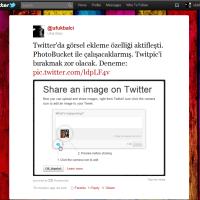 Twitter Görsel Paylaşma Özelliğini Kullanıma Sundu