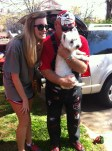 Kendall brought her dog Lilly