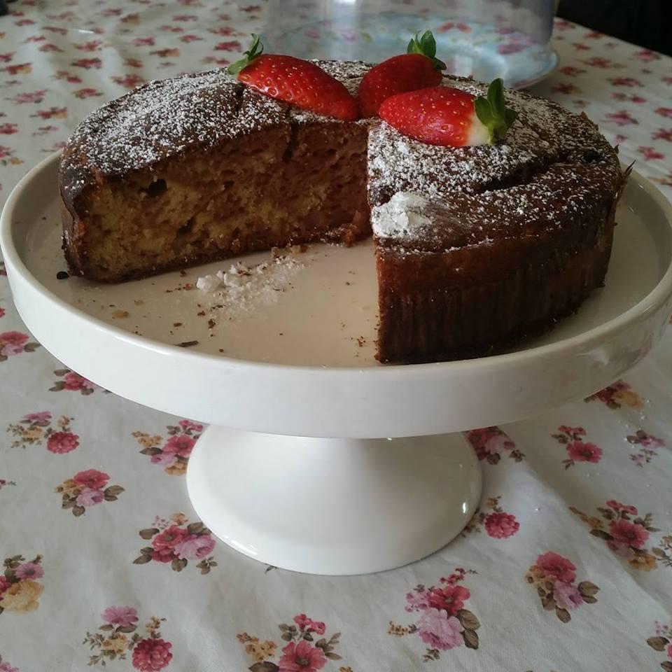 עוגת שיש תות וניל