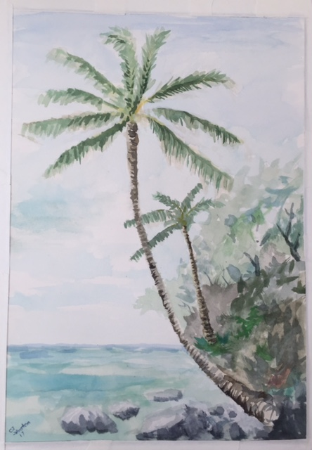 Anini Beach Watercolor on paper