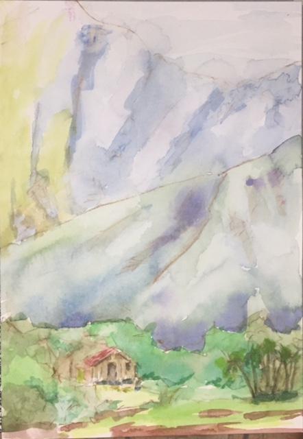 Hanalei Valley Watercolor on paper