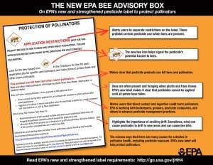 Bee advisory box from EPA
