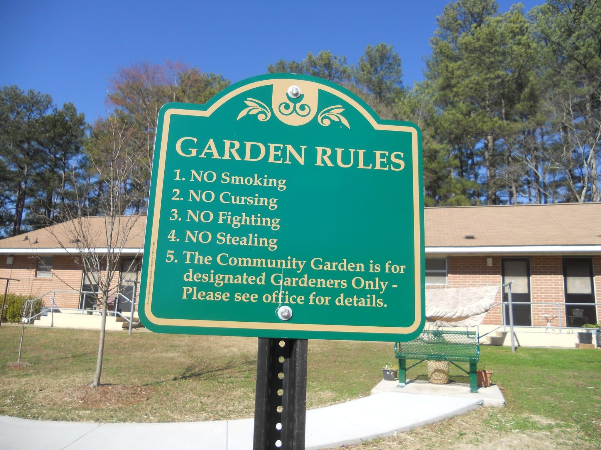National signs for gardeners-gardeners 80